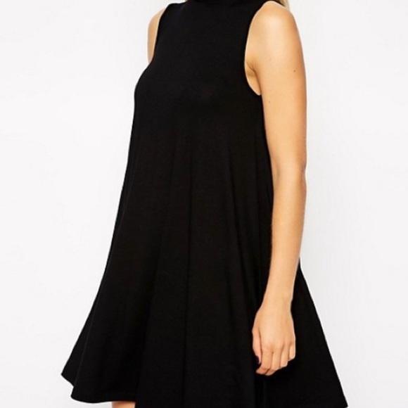 Francesca's Collections Dresses & Skirts - Turtleneck Swing Ribbed Dress